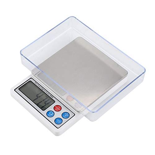 Mini Báscula Electrónica Portátil Digital Balance Alta Precisión para Medición 2KG/0.1g