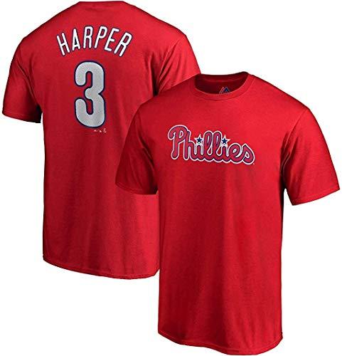 Bryce Harper Philadelphia Phillies #3 Kids Red Name & Number Jersey T-Shirt (5/6)