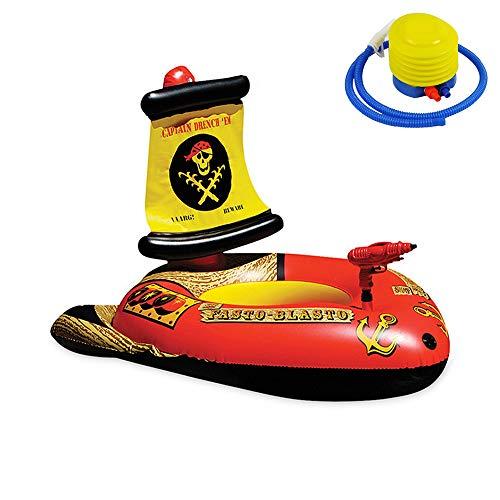 Piscinas Hinchables Barco De Natación De Barco Pirata De Pistola De Agua Inflable, Flotador De Piscina, Drenaje Flotante De Piscina, Juguete Flotante Inflable De Barco Pirata Inflable Para Niños