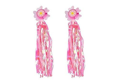 HugeDE 2 Stück Lenkerfransen Streamer Bändchen Tassel Ribbon für Kinderfahrrad mit Sonnenblume