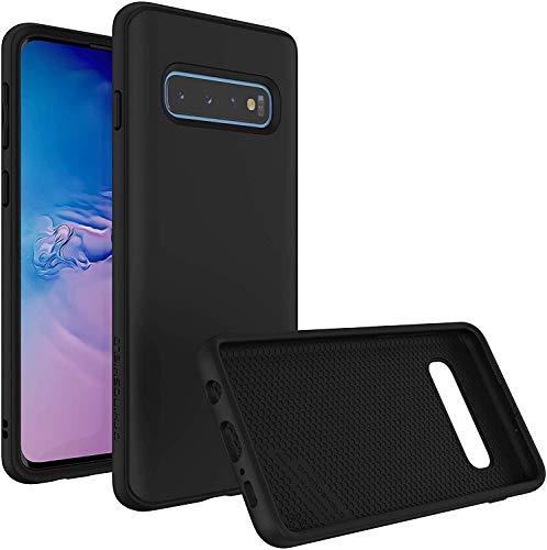 RhinoShield Funda Compatible con Samsung [Galaxy S10] | SolidSuit - Funda Protectora de Diseño Compacto y Absorbente de Impactos de hasta 3.5 M con Acabado Premium Mate - Negro Clasico