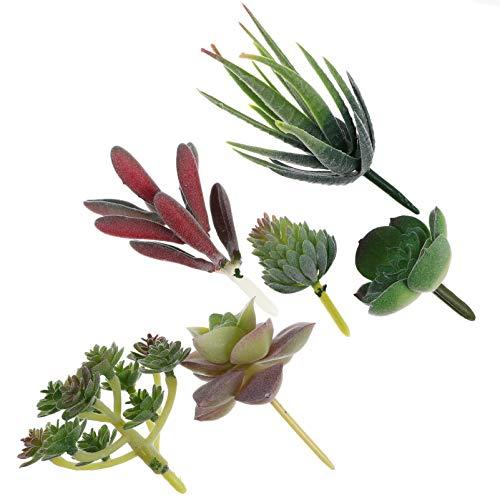 TOYANDONA 6Pcs Piante Succulente Artificiali Piante Grasse Finte Non in Vaso Decorazioni per Piante Grasse per Interni Ed Esterni
