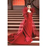 """Includes - Barbie as Scarlett O'Hara Doll with Sleek Velvet Gown of Feathers and """"Jewels"""", Gloves, Net Stole, Bracelet, Hair Decoration, Shoes and Doll Stand Doll measured approximately 12 inch in height Produced in year 1994 For age 14 and up"""