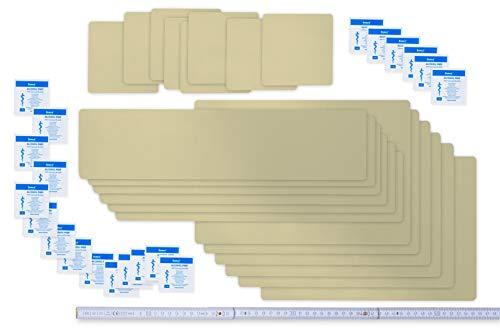 Flickly Juego de Parches autoadhesivos para Reparaciones de Lonas, 20 Piezas, en Muchos Colores, para Piscinas, Lonas y UVM. -