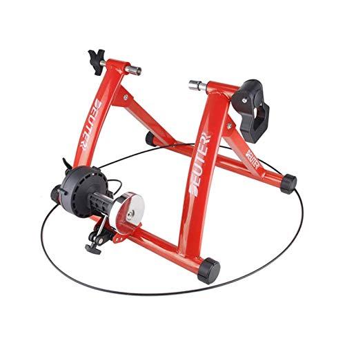XTZJ Soporte de entrenador de bicicletas  Entrenador interior de acero inoxidable portátil con volante magnético, reducción de ruido, 6 configuraciones de resistencia, liberación rápida y bolsa  Eje