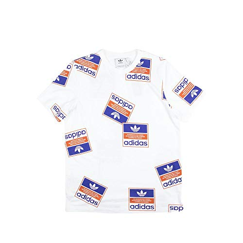 adidas ステッカーボム Tシャツ US サイズ: X-Large カラー: ホワイト
