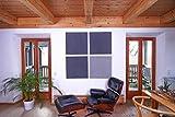 Heradesign Schallschutzplatten – Diverse Farben – Platten für Wand und Decke – für Innen und Außen – RAUMAKUSTIK – aus Naturfasern – Alternative zu Akustikschaumstoff – inkl. Montageset (Hellgrau)