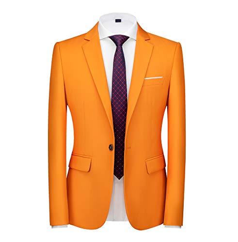Men's Slim Fit Casual Blazer One Bu…