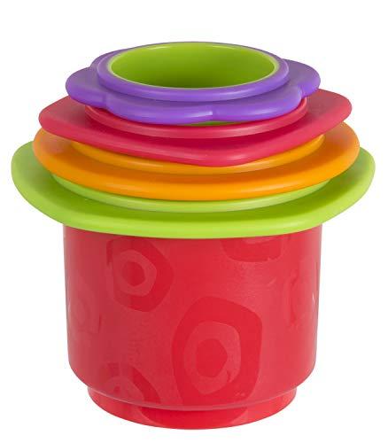 Playgro Juguete apilable de baño, 4 Piezas, Juguete para bebés, A partir de 9 meses, Libres de BPA, Colorido, 40217
