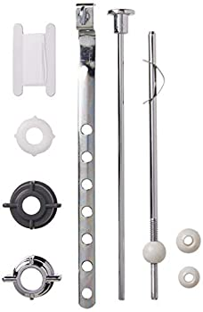 PF WaterWorks PF0907 Pop-Up Drain Repair Kit - Threaded Adjustable Center Pivot/Ball Rod with 3 Nuts Gasket 3 Sizes of Balls with Pull Rod/Linkage Chrome