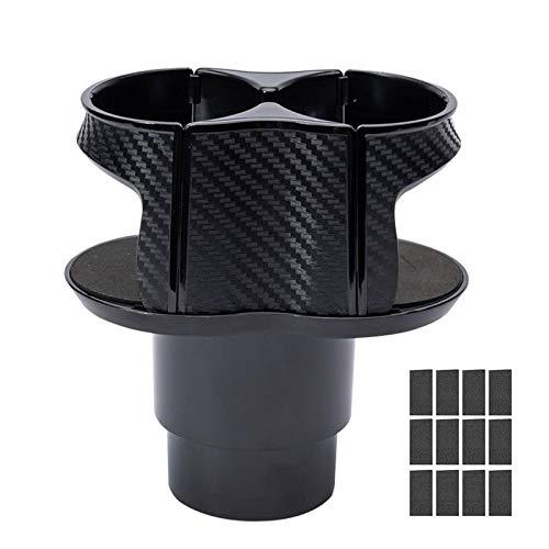 happygirr Soporte ajustable para bebidas para coche, 2 tazas, ABS, soporte para latas, soporte para rejilla de ventilación, soporte universal para taza de café y lata de bebidas, color negro