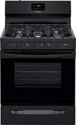 "Frigidaire FCRG3052AB 30"" Freestanding Gas Range with 5 Sealed Burners 5 cu. ft. Oven Capacity Edge-to-Edge Continuous Grates Store-More Storage Drawer in Black"