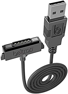 Sonim XP5/XP6/XP7 Charger, Heavy Duty Braided USB Charge/Sync Cable with Magnetic Contacts (AT&T Sprint Verizon XP5700/XP6700/XP7700 Premium Quality Sonim Replacement Cable)