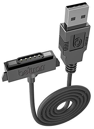 BELTRON Sonim XP5/XP6/XP7 Charger, Heavy Duty Braided USB Charge/Sync Cable with Magnetic Contacts for Sonim XP5700/XP6700/XP7700 Phones (Premium Quality Industrial Strength Replacement Cable)