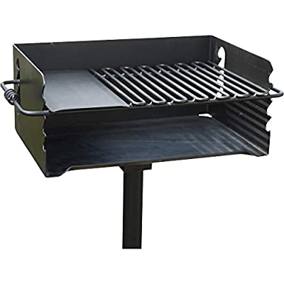 Pilot Rock Heavy-Duty Jumbo Steel Park-Style Charcoal Grill -24 1/4in. x 16 1/8in. Model Number CBP-247