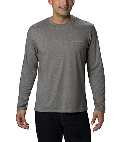 Columbia Men's Thistletown Park Long Sleeve Crew, Charcoal Heather, X-Large