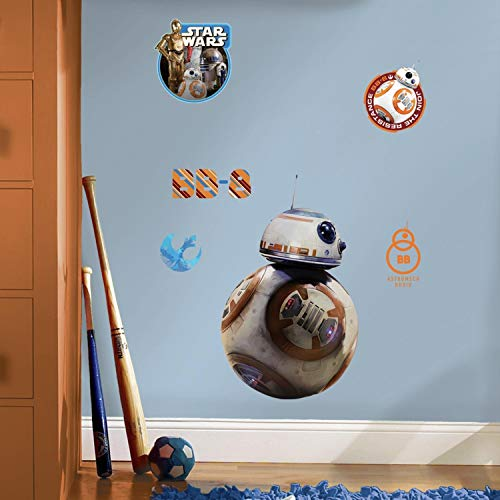 Sticker Géant Repositionnable Stra Wars the Force Awakens Ep Vii Bb8