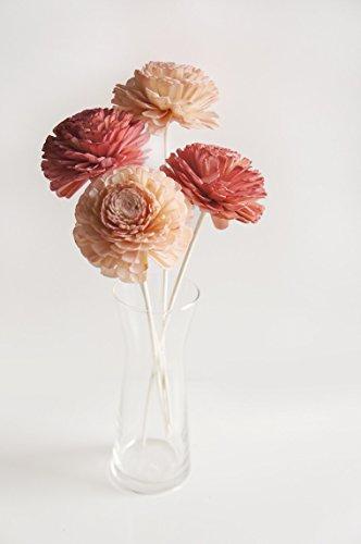 plawanature Lot de 4 ton chaud couleur 7,6 cm Jasmin Sola en Bois Fleur avec diffuseur pour la maison Huile parfum parfum.