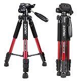 ZoMei Q111 55inch Panoramic Camera Tripod Lightweight 1/4' Quick Release Plate Digital SLR Canon Nikon Sony Samsung etc, (red)