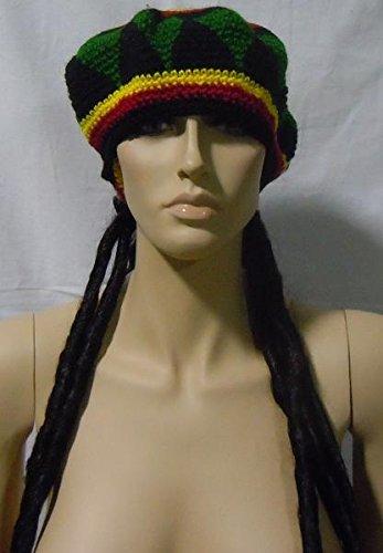 Chapeau jamaïcain perruque rasta Jamaïque pour carnaval et fêtes
