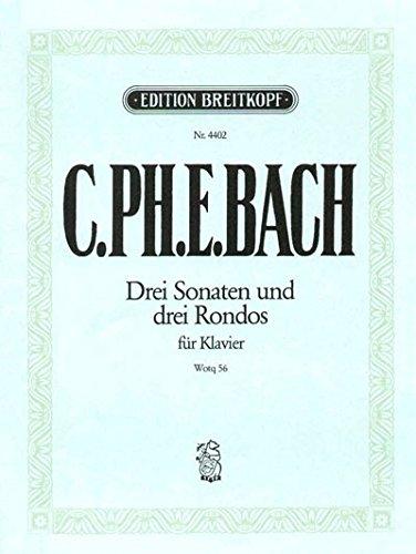 Die sechs Sammlungen 2.: Claviersonaten nebst einigen Rondos für das Forte-Piano Wq 56/1-6 - Breitkopf Urtext (EB 4402)