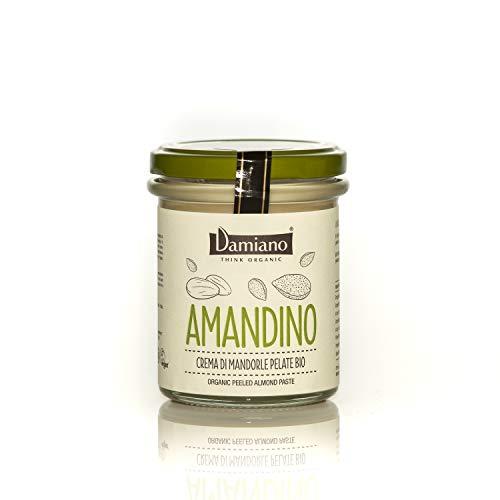 Crema Spalmabile di Mandorle Pelate, 100% Biologiche - Senza Glutine e Vegan Friendly - Vasetto da 180g