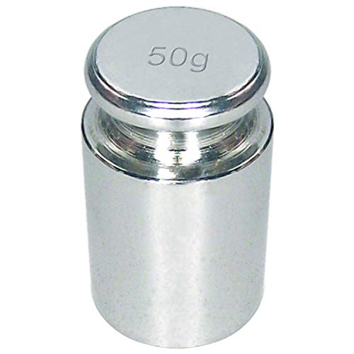 Justiergewicht/Kalibriergewicht für Digitalwaagen - 50 Gramm - SILBER - zum Kalibrieren von Digitalwaagen/Waagen