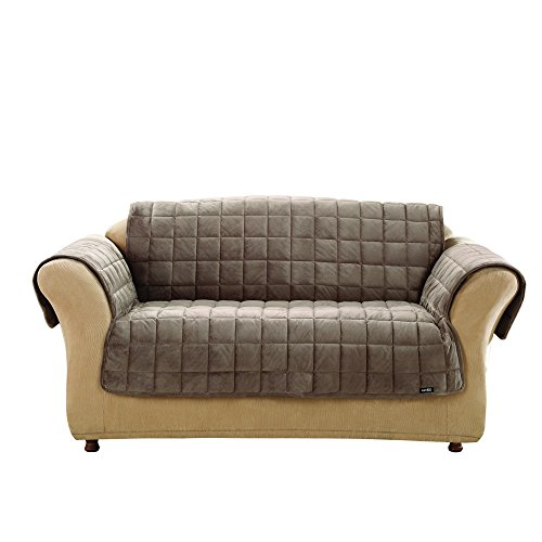 SureFit Deluxe Pet Cover  - Sofa Slipcover  - Sable (SF39227)