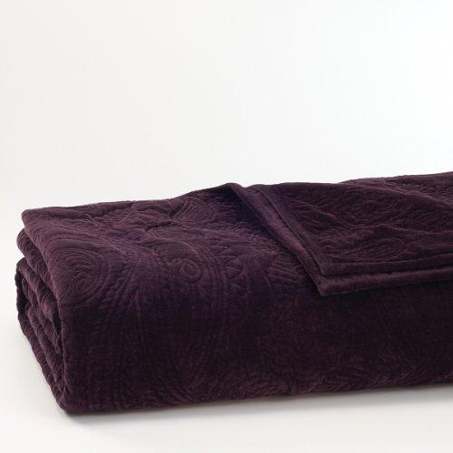 Ralph Lauren New Bohemian Velvet Paisley queen Quilt- Luxurious Rich Black Velvet