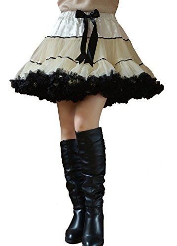 YSJ Women's Tutu Pettiskirt 3-Layered Petticoat Mini Lolita Cocktail Skirt