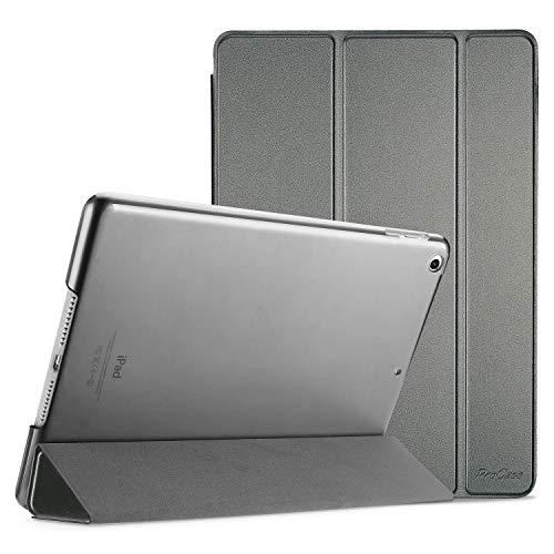 ProCase Custodia per iPad Air, Ultra Sottile e Leggero Custodia Supporto con Retro Semi-Trasparente Copertura Intelligente per iPad Air (A1474 A1475 A1476) –Metallico
