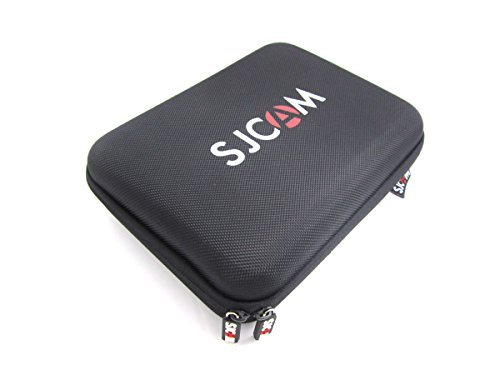 SJCAM originale schiuma antiurto Custodia protettiva Borsa copertura per SJ4000 SJ5000 GoPro HD piccola macchina fotografica di sport telecamera borsa Nero (L)