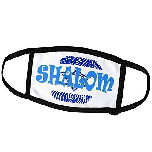 Promini Monatsmaske - RinaPiro - jüdische Zitate - Shalom Hello, Davidstern Israel, Jerusalem, beliebte Spruch - Staubmaske Outdoor Schutzmaske
