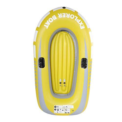 DAUERHAFT PVC Praktisches Schlauchboot Aufblasbares Kanu, für Schwimmbad, Angeln, mit Zwei Paddelhalterungen