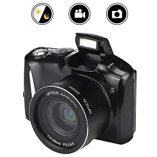Mengen88 Cámara réflex Digital, 24 Millones HD Pixel Home 16X Zoom SLR cámara de vídeo, Soporte de Disparo de Modo múltiple con función de Disparo Continuo de Alta Velocidad