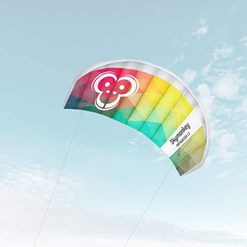 """Skymonkey Airtwister 1.3 Lenkmatte mit Flugschlaufen \""""Ready 2 Fly\"""" - Spannweite: 130 cm, Rainbow"""