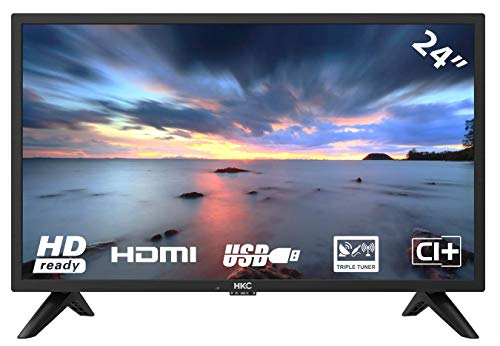 HKC 24F1D HD LED TV 60 (24 pollici HD TV), CI+, HDMI+USB, Triple Tuner, 60Hz, Mediaplayer