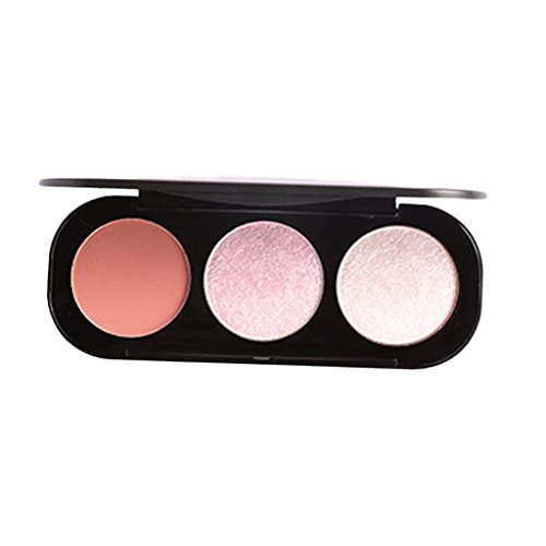 Sharplace 3 Couleurs Grand Maquillage de Palette de Fard à Joues Imperméable et Durable - 1#, comme décrit
