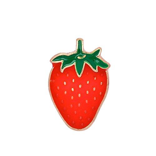 Adisaer Metalllegierung Emaille Tasche Kragen Anstecker Brosche Damen Obst Erdbeere Broschen Rot Für Mädchen Brosche Anstecknadeln Brosche Anstecknadeln 1 Stück Hochzeit