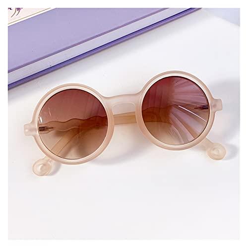 Yinyimei Gafas de Sol NUEVOS NIÑOS Colores Forma de Leopardo Moda Redondo Gafas de Sol Chicas Chicas Vintage Gafas de Sol UV Protección Classic Kids Gafas