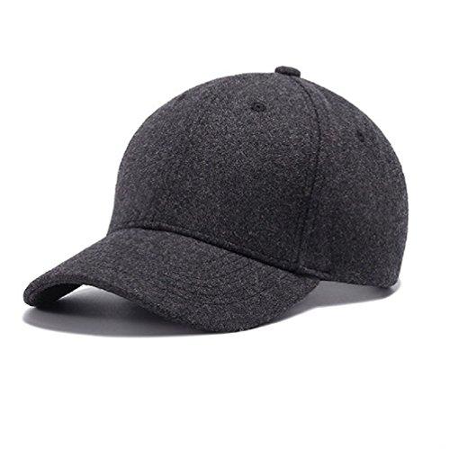 GADIEMKENSD Hat Novelty Clothing Caps for Men Baseball Sport Caps for Dad Wool Apparel Fabric Hat Baseball Adjustable by Cap The Cap Dem Hat En Hats Hats Men Caps Gray