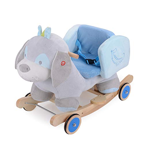New ALUS- Children's Trojans Musical Horses Rocking Horses Baby Rocking Chairs Children's Day Gifts ...