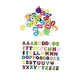Zonfer 100 En 1 Tela No Tejida De Fieltro De Colores Historieta del Alfabeto Letras Números Sheets Craft Kids Scrapbooking Accesoria Hecha a Mano