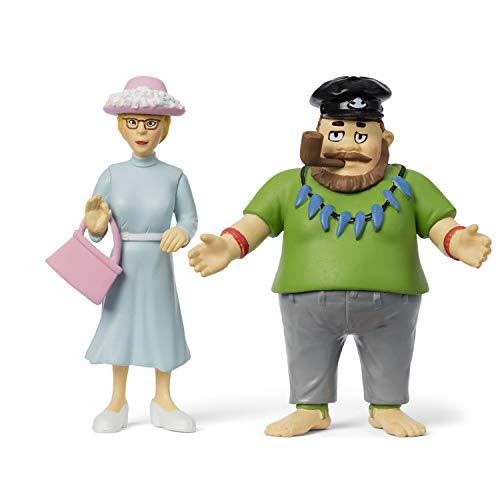 Micki & Friends 44379800 Pippi Langstrumpf Spielfiguren Vater Efraim & Frau Prysselius mit Handtasche - 3-teilig - Puppen - Puppenhaus-Zubehör - ab 3 Jahre