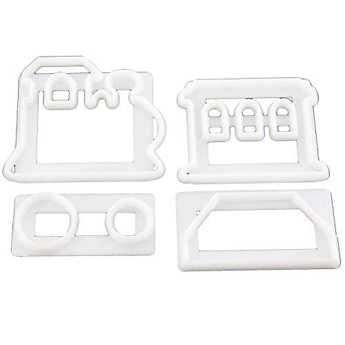 FMM 13865 Emporte-Pièces, Plastique, Blanc, 11 x 22 x 2 cm