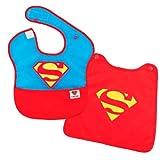 MOLTO Bib + Cape Superman - Babero de superheroes con capa