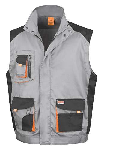 Result R317X Work-Guard Lite Gilet, Gris/Noir/Orange, XL