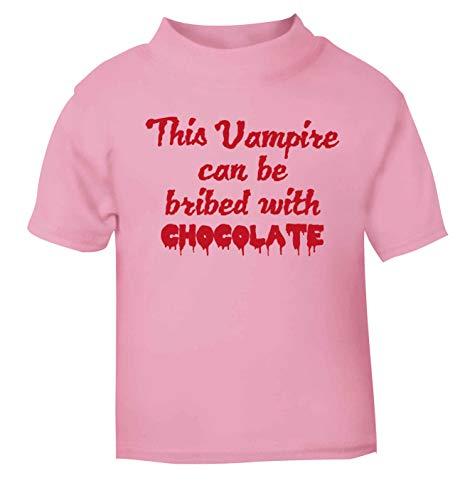 Flox Creative T-Shirt pour bébé Motif Vampire Chocolat Noir - Rose - 2 Ans