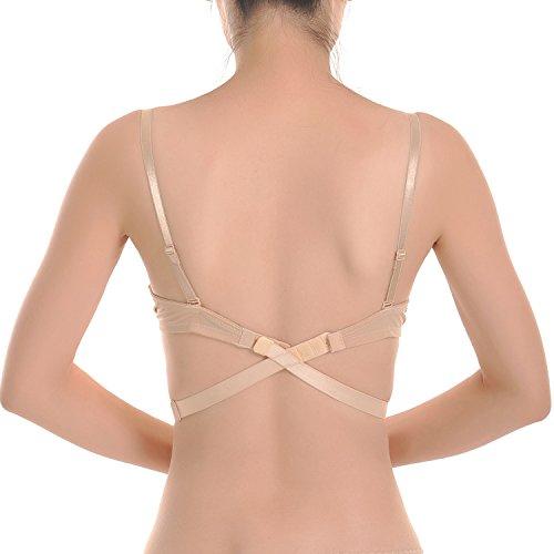 Closecret Einstellbarer BH-Trägerwandler mit tiefem Rückenausschnitt (3 pro Packung)