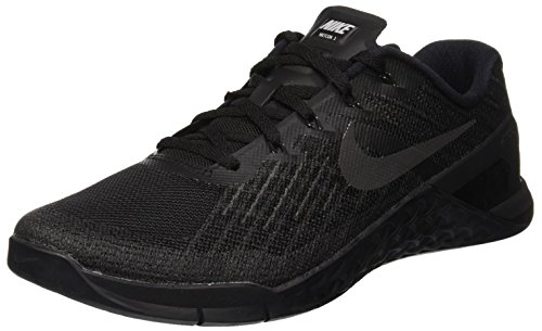 Nike Mens Metcon 3, BLACK/BLACK, 6 M US